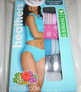 6 Fruit of the Loom Bikini Panty Set Ravel Free Waistband Stay in Place 9 2X 2EG