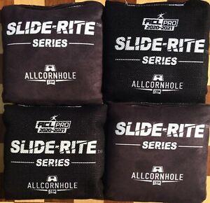 Brand New Slide-Rite Cornhole Bags Black ACL Allcornhole ACL PRO 2020/2021 Stamp