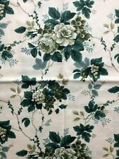 Home Decor Fabric, Remnant, Waverly Floral Print, Drapes Curtains Pillows, New