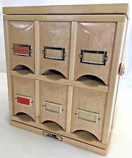 Handcrafted Tea Cube Chest Cabinet Teabag Dispenser Hard Maple Wood Cupboard USA