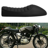 D DOLITY Retro Motorcycle Cafe Racer Seat Flat Brat Style Vintage Saddle Cushion Replacement for Yamaha SR XJ Motorbikes Black