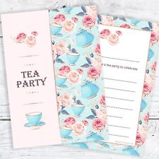 Tea Party Invitations - Birthday or any Celebration - A6 Postcard (Pack 10)
