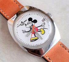 ULYSSE NARDIN WHITE MICKEY MOUSE DIAL WHIT CALENDAR  NICKEL PLATED CASE 1945