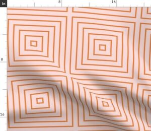 Geometric Tile Squares Pink Cube Modern Lines Spoonflower Fabric by the Yard