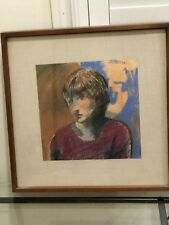 """Arthur Okamura– Signed Pastel Drawing """"Lorraine Head"""" 1966"""