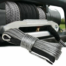 14x50 10000lbs Synthetic Winch Rope Line Recovery Cable 4wd Atv Gray With Guard