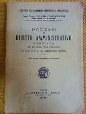 LIBRO V. CAPOGRANDE - ISTITUTO DI DIRITTO AMMINISTRATIVO - S. LATTES & C. 1932