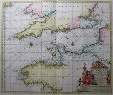 Ärmelkanal - Manica, Gallis La Manche, et Belgis Het Canaal von Visscher 1680