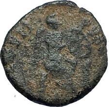 Aelia flacilla Teodosio I esposa 383AD antigua moneda romana victoria Chi-rho i67725