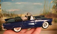"""1955 Blue Ford Thunderbird Convertible Ss 5718 die cast 5.75"""" collectible"""