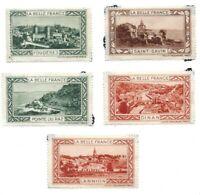 Lot of (5) La Belle France Poster Stamps/ Cinderellas - Fougeres etc..