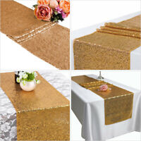 "12"" x 72"" Glitter Sequin Table Runner Tablecloth Wedding Party Home Table Decor"