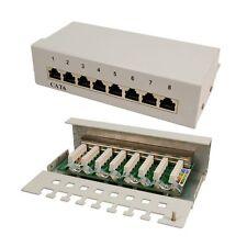 8 puerto panel de conexiones cat6 red hub instalación aplicar parches a LAN rj45 Logilink