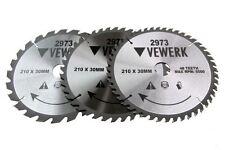Vewerk 3 Pack- 210 X 30MM TCT Circular Saw Blade 24T 40T 48T 2973