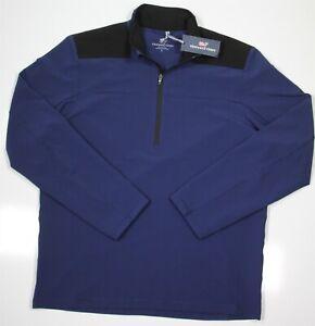 New! Vineyard Vines $135 Navy Blue All-Weather Shep Shirt Pullover Men's Large