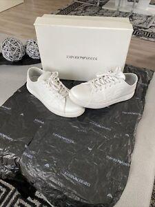 Emporio Armani Schuhe DG Eu 43-44 Uk 9 US 10 Weiß NP:165€ 100% Original Designer