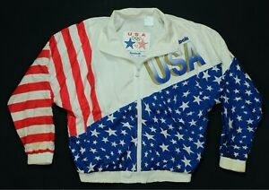Rare Vintage REEBOK Barcelona Olympics 1992 Team USA Stars Stripes Jacket 90s M