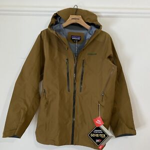 New 2021 Men's Patagonia PowSlayer Ski Jacket Small $699 Gore Tex Mulch Brown