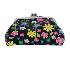 Women Vintage Flower Printed Coin Purses Small Wallet Hasp Purse Clutch Bag WA