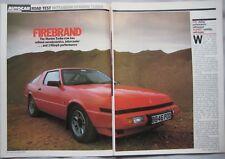 1985 Mitsubishi Starion Turbo Original Autocar magazine Road test