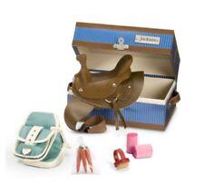 American Girl Doll Nicki's Horse JACKSON TACK BOX Riding Saddle Saddlebags Brush