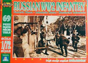 Italeri Atlantic Nexus 010, 1:72, WWII Russian Infantry, Figures. (ATL 010-1)