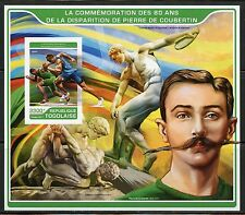 TOGO  2017  80th MEMORIAL OF PIERRE de COURBETIN OLYMPICS FOUNDER IMPF S/S  MINT