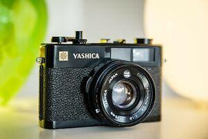 Yashica Electro 35 CC, schwarz, 35mm 1:1.8, Rangefinder, Messsucher