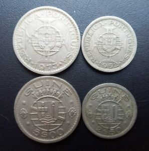 Portuguese Guinea 2 coins set 1939-1973 XF (#971)