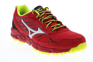 Mizuno Wave Daichi R646B3 Mens Red Mesh Lace Up Athletic Running Shoes 9