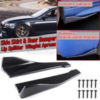 Carbon Fiber Rear Bumper Lip Splitter Winglet Side Skirt For Honda Civic Accord
