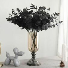 20 Heads Artificial Black Eucalyptus Fake Flower Plant Wedding Party Decoration