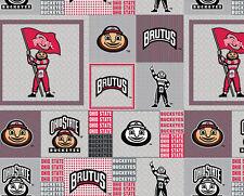 College Ohio State University Buckeyes OSU Fleece Fabric Print BTY - sohs159s