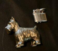 Metal Scottie Scottish Terrier Dog -  Cigarette Lighter 1950's