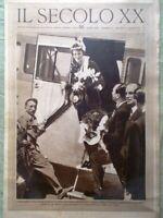 Il Secolo XX 10 Giugno 1932 Amelia Earhart Nuvolari Corazzieri Esami Zavattini