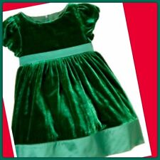 NWT 3-6 Gymboree HOLIDAY CELEBRATIONS  GREEN VELVET Formal DRESS Short Sleeve