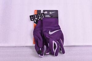 Women's Nike Dri - Fit Tempo Run Gloves, Purple / Silver, Medium