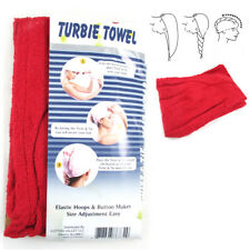 2 Pc Polyester Terry Large Hair Head Wrap Turbie Towel Spa Soft Cap Fast Dry