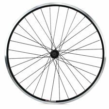"""Sta-Tru 26"""" Front MTB Style Black Double Wall Rim 32h QR V-Brake Stainless Steel"""