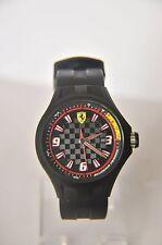 Scuderia Ferrari Hombres Esfera Negra de equipo en boxes Reloj Correa Negra ~ AB+729