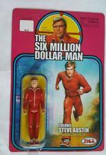 ZICA SIX MILLION DOLLAR MAN STEVE AUSTIN 3.75 INCH FIGURE RED TRACK SUIT MOC
