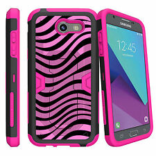 For Samsung Galaxy J3 | Luna Pro | Express Prime 2 (2017) Pink Clip Stand Case