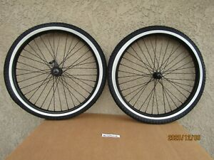 NEW  26'' X 2.125 HEAVY DUTY BLACK BICYCLE RIM SET , TIRES & TUBES FOR CRUISER,