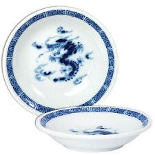 "4 PCS. Japanese 4"" Fortune Ryu Dragon Sushi Soy Sauce Wasabi Dipping Dish Plates"