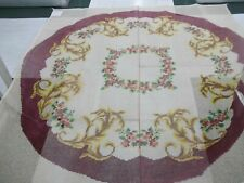 "Handpainted Rug Canvas by Smyrna Laine 67"" 3.5 sts to "" close out Large"
