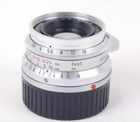 Leica SUMMICRON-M 35mm f/2 Silver Camera Lens USED