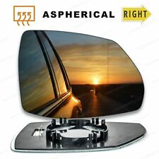 Right side wing mirror glass for Audi Q7 (2nd gen) 2015-On wide angle heated