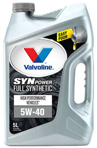 Valvoline Full Synthetic SynPower Engine Oil 5W-40 5L 1155.05 fits Audi Fox 1...