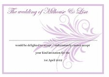 Personalised RSVP Cards - 50 cards with envelopes