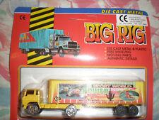 80'S VINTAGE BIG RIG YELLOW TRUCK FREE WHEELING MIB